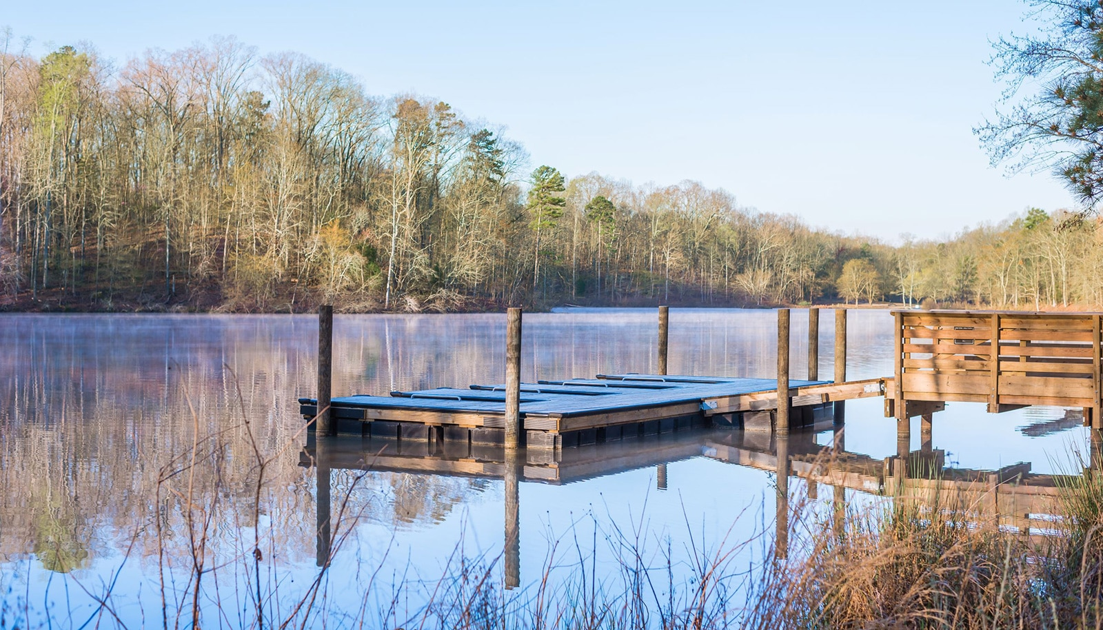 Dock and Lake Hagler