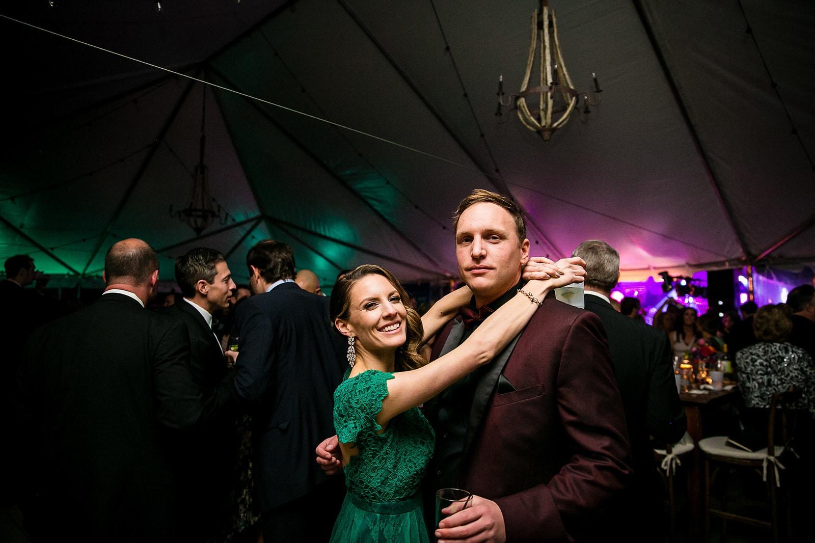 Couple enjoying the Green Gala