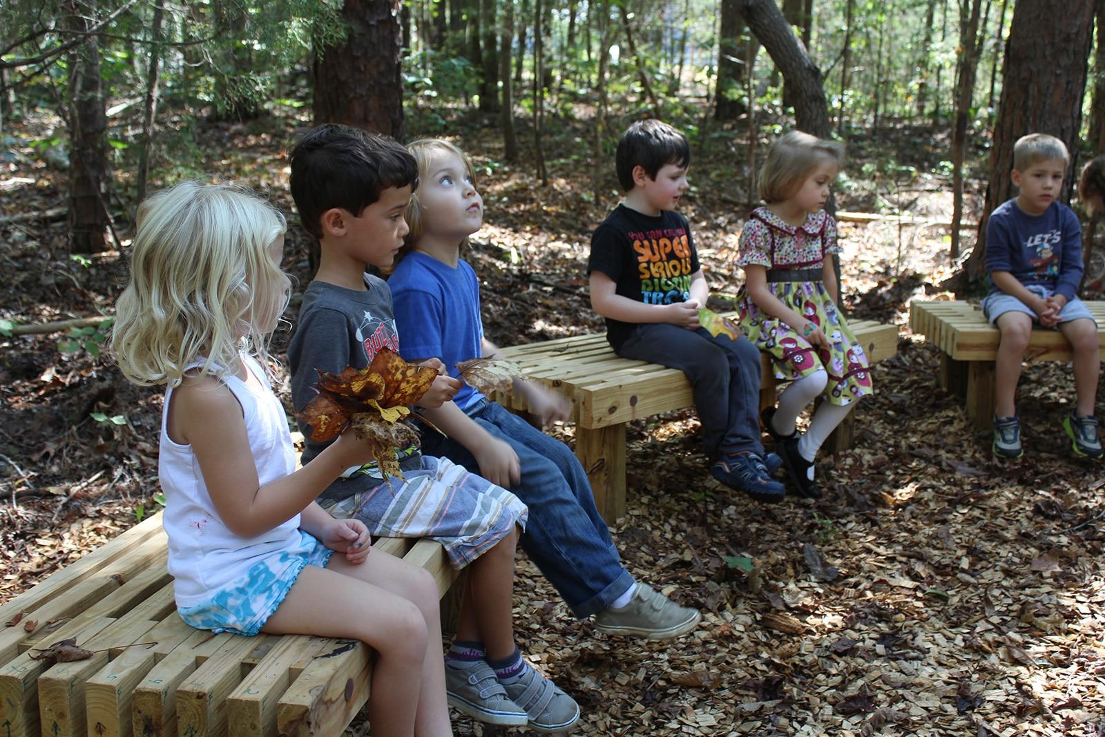 Kids in outdoor classroom
