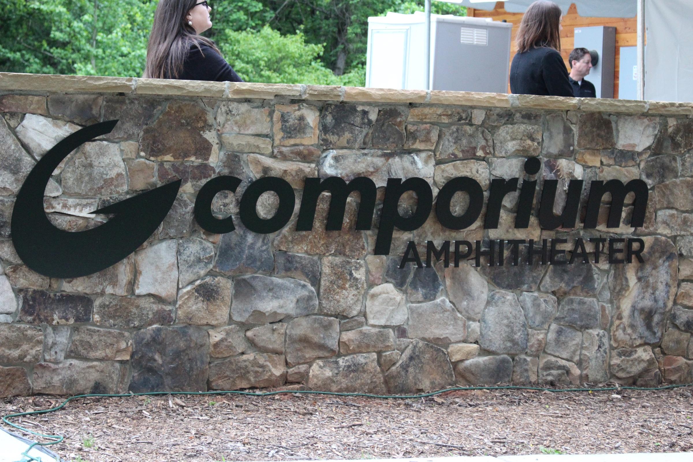 Comporium Amphitheater Logo Sign