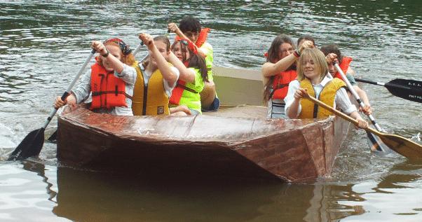 Scouts in a canoe