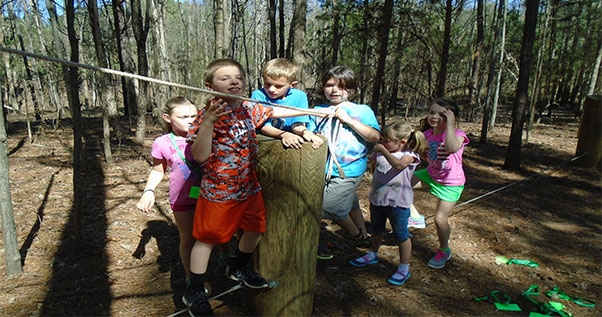 Homeschoolers attending a Nature Explorers Session