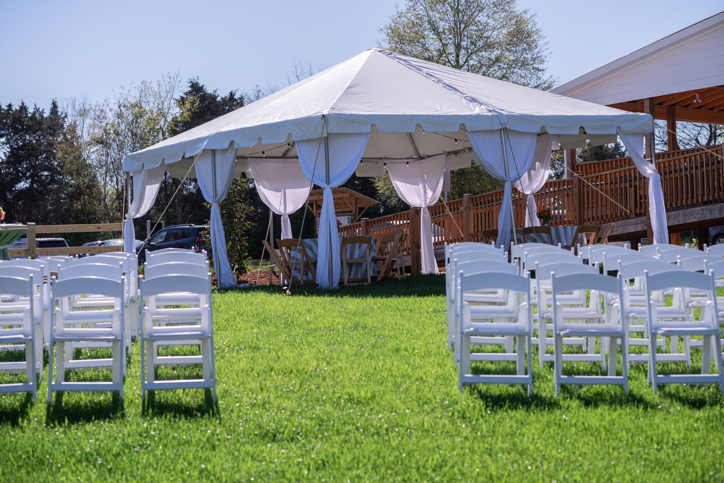 Wedding at Horse Stables at Anne Springs Close Greenway